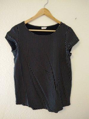 schwarz weiß gepunktetes T-Shirt