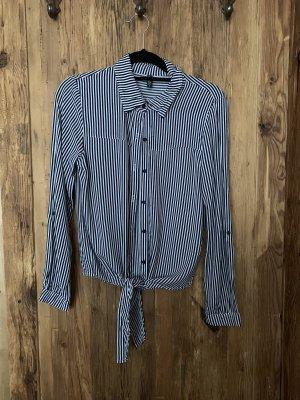 schwarz/weiß gestreifte Bluse