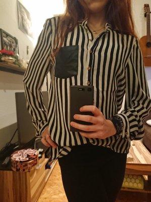 24Colours Blusa blanco-negro