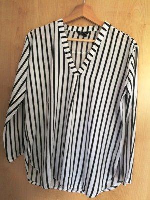 schwarz-weiß gestreifte Bluse Gr.S 34