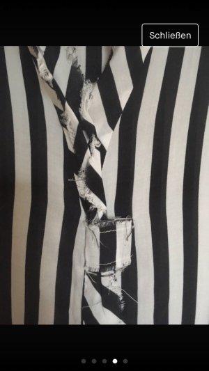 Schwarz weiß gestreifte Bluse , Größe 38