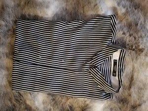 Schwarz weiss gestreifte bluse mit fledermausärmeln