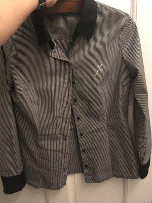 Schwarz weiß gestreifte Bluse von mötivi in Größe 42 aus Baumwplle