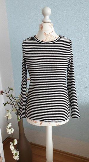 schwarz-weiß gestreifter Longsleeve Shirt von Esprit