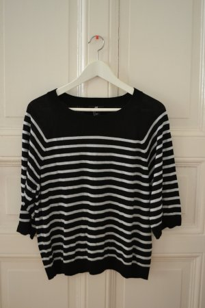 H&M Oversized Sweater white-black
