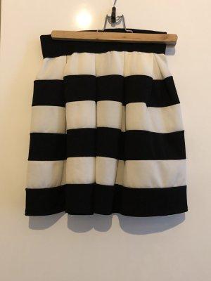 Jupe évasée blanc-noir polyester