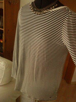 schwarz weiß gestreiftes Blusenshirt von s.Oliver in 38