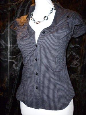 Schwarz-weiß gestreiftes Hemd made in Italy