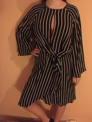 Topshop Longsleeve Dress white-black synthetic