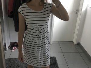 Schwarz-Weiß gestreiftes Kleid von H&M in XS