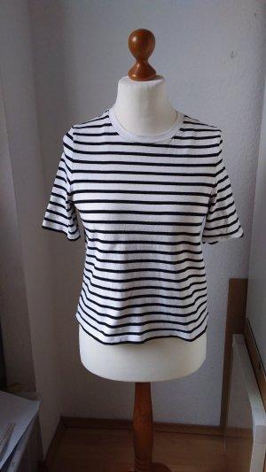 COS Camicia cropped bianco-nero Cotone