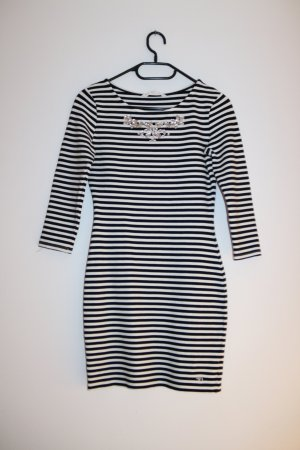 Schwarz-Weiß gestreiftes Sweatshirtkleid von Tom Tailor