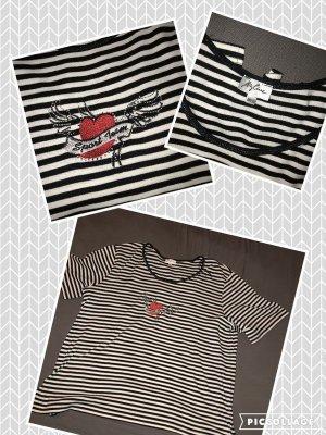 schwarz- weiß gestreiftes T-Shirt