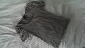 H&M T-Shirt black-white