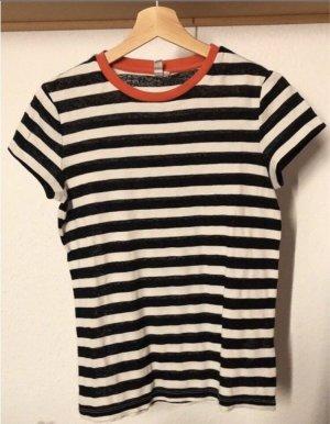 Schwarz/weiß gestreiftes T-Shirt