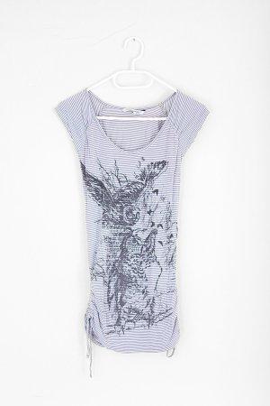 schwarz / weiss gestreiftes T-Shirt mit Eulenmotiv