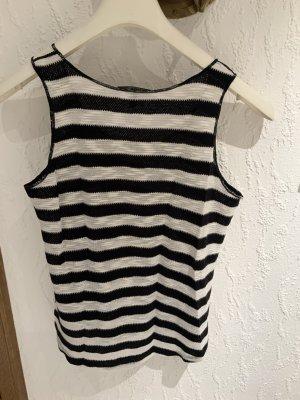 Mango Knitted Top black-white