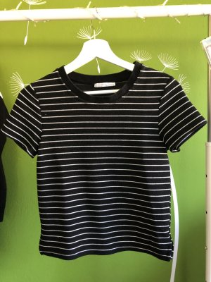 Zara Trafaluc T-shirt noir-blanc
