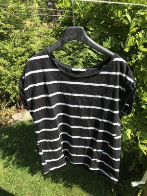 Schwarz-Weiß gestreiftes Zara T-Shirt Gr. S
