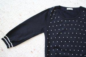 Savannah Jersey de cuello redondo negro-blanco Viscosa
