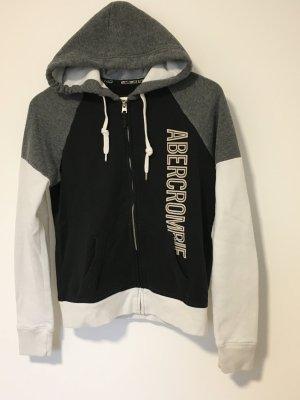 Schwarz, weiß, graue Sweatjacke von Abercrombie & Fitch