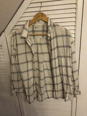 H&M Shirt met lange mouwen wit-zwart