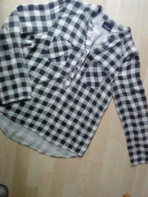 schwarz weiß karierte Hemdbluse von Staccato Größe M