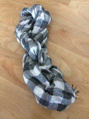 Schwarz/ Weiß karierter Schal