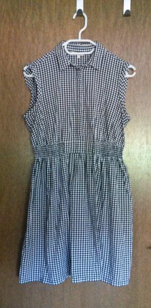 Schwarz-weiß-kariertes Kleid von Clockhouse, Gr. L.