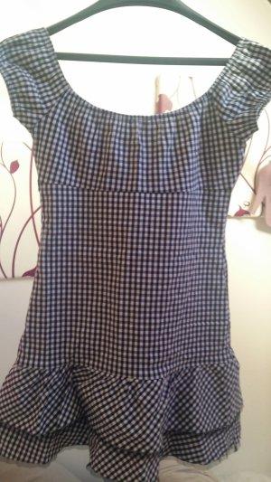 schwarz weiß kariertes Mini Kleid von Pimkie