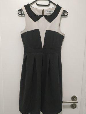 schwarz-weiß Kleid Abendkleid kleines Schwarzes Oberteil mit Reißverschluss von Vero Moda in der Gr. 36 s smal wie neu