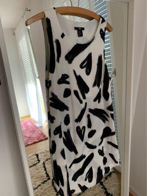 Schwarz Weiß Kleid Muster H&M