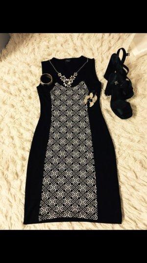 Schwarz-Weiß Kleid Yessica
