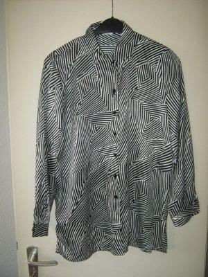 schwarz /( weiß Langarm-Bluse
