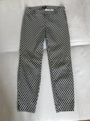 Schwarz-Weiß-Look, Hose für Sommer und Winter