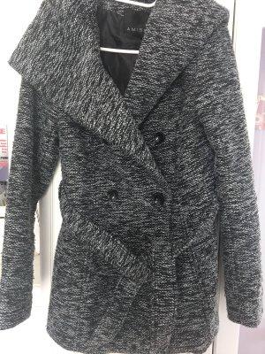 schwarz/weiß Mantel