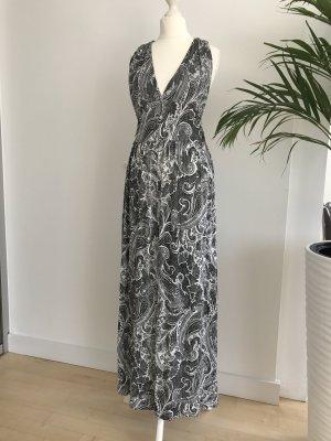 Schwarz weiß Maxikleid Kleid Jersey dG S 34-36