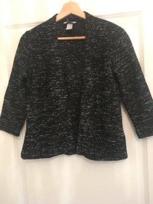 H&M Knitted Blazer black-white