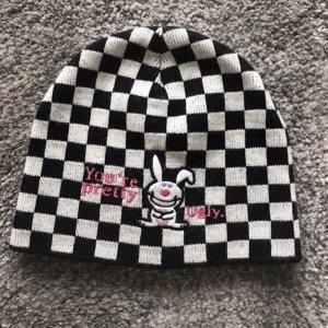 Schwarz-Weiß Mütze