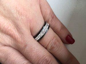 Schwarz Weiß Ring Swarovski