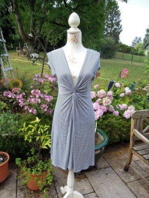 Schwarz Weiß Ringel Kleid Gr. 36 Stretch Connemara