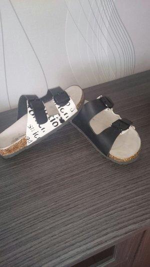 schwarz/weiß Sandale Gr 37