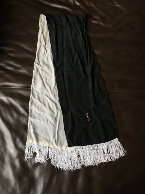 Yves Saint Laurent Silk Scarf white-black