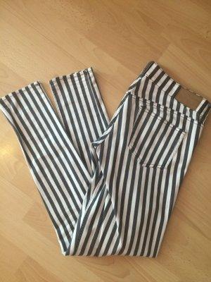 schwarz weiß Zebra Hose