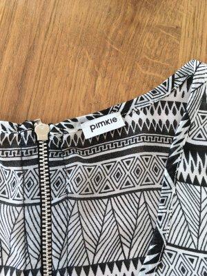 schwarz weiße ärmellose Bluse, Pimpkie, XS