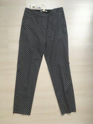 Schwarz-weiße Ankle Hose