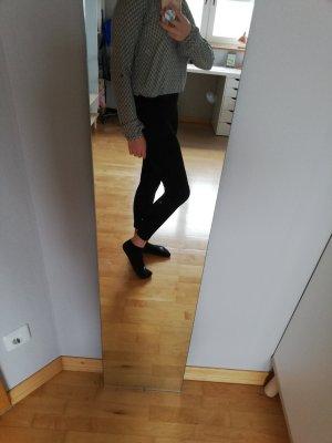 schwarz/weiße Bluse