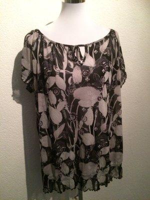 schwarz weiße Bluse / Blusenshirt von S. Oliver - Gr. XXL / 46