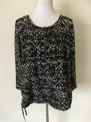 schwarz weiße Bluse / Blusenshirt von Yessica / C&A - Gr. 44