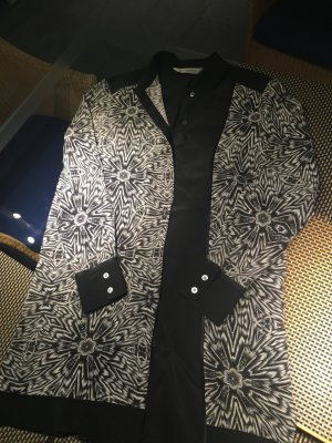 Schwarz Weiße Bluse gemustert